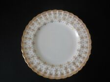 "Spode Fleur De Lys Gold 9 1/8"" Lunch Plate  Bone China Made in England Excellent"
