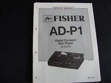 Original Service Manual Fisher AD-P1