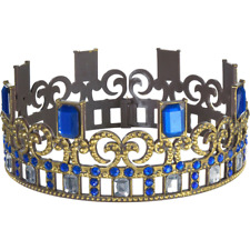 Party City Descendants 3 One Size Audrey Crown - Blue Gemstones