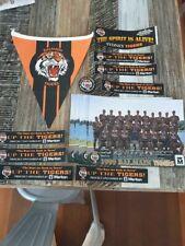 NRL Balmain Tigers rugby league memorabilia, flag, badge, stickers 1990's