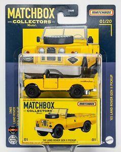 2021 Matchbox Collectors #01 '65 Land Rover Gen II Pickup / YELLOW / MOC