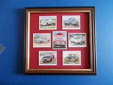 CARS OF THE 70S CLASSIC RALLY CARDS MOUNTED AND FRAMED