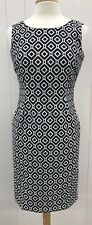 JONES STUDIO Separates Dress Womens 6 Black White Print Sheath Fitted