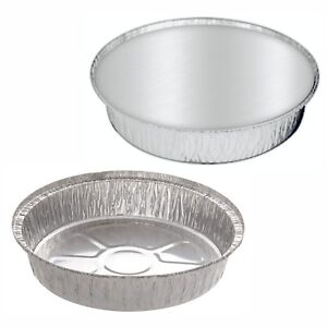 """New ROUND Aluminium Foil Containers Size 9"""" Large LIDS optional Trays Takeaways"""