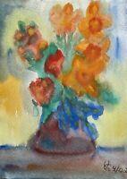 Expressives Stillleben 2 Blumenstrauß mit Narzissen Osterglocken Frühlingsblüher