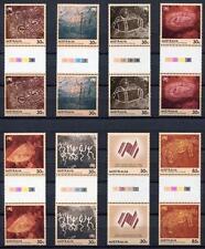 40667) AUSTRALIA 1984 MNH** Primitive art 8v gutter pair