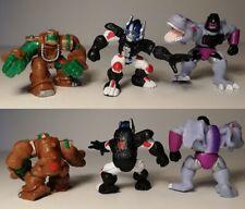 Transformers Robot Heroes Lote de 3 Rhinox de las guerras de las Bestias, Optimus Prime & Megatron