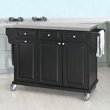 SoBuy® Luxury Kitchen Island Cabinet, Kitchen StorageTrolley Cart,FKW33-SCH,UK