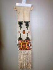 Vintage Beaded and Quilled Pipe Bag