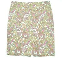 Forever 21 Essentials Pencil Paisley Print Skirt  Size M