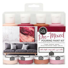 American Crafts Color Pour Pre-Mixed Amber Drift Pouring 4-Piece Paint Kit