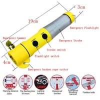 3 in 1 Emergency Beacon / Torch + Windscreen Hammer + Seat Belt Cutter