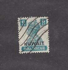 """KUWAIT - 68 - USED - 1945 - """"KUWAIT"""" O/P ON INDIA STAMP"""