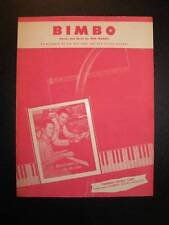 Bimbo Sheet Music Vintage 1953 Rod Morris Voice Piano Guitar Chords Fairway (O)