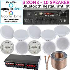10 x Altavoz de techo Bluetooth fondo equipo música -Tienda/Restaurante/Cocina