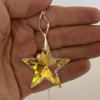 925 Silver Star Large AB Huge Pendant Necklace Made With Swarovski® Crystals