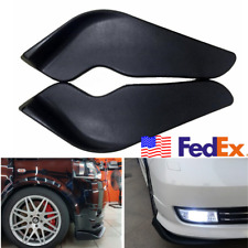 2x Front Bumper Spoiler Dam Protection Winglet Moulding Trim ABS Plate From USA