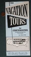 1958 Minnesota Greyhound Bus Lines Vacation Tours from the Twin Cities brochure!