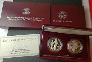 1995 U.S. Olympics Coins of the Atlanta Centennial Games Two-Coin Silver Proof