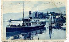 1934 Un saluto da Intra Lago Maggiore barca Guller Novara Lucca FP B/N VG ANIM