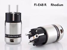 1 Stk. Furutech FI-E48 R Schukostecker Netzstecker Rhodium