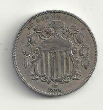 Etats Unis  5 cents 1866