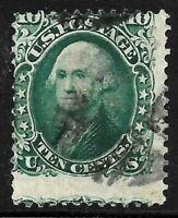 Sc #68 Dramatic Misperf EFO Washington 10 Cent 1861-62 Civil War US 1352