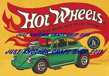 Hot Wheels Redline Poster 1967 VW Beetle Bug Advert Shop Display Sign Leaflet