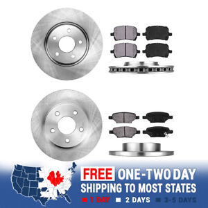Front And Rear Brake Rotors Metallic Pads For Chevy Cobalt Malibu G6 GT GXP Aura
