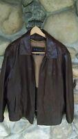 Bernardo men's dark Brown Soft Genuine Leather Men's Jacket sz M  VG condition