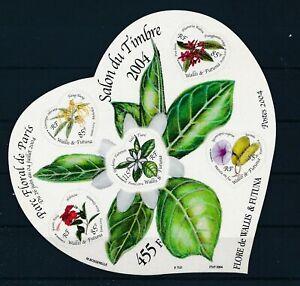 [G388849] Wallis Futuna 2004 flowers good very fine MNH sheet