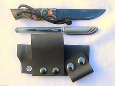 Fixed Blade knife 1095 carbon steel kydex sheath camo G10 scales Handmade 2B