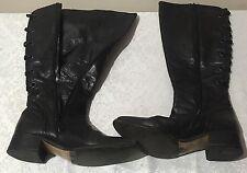 VERO CUOIO Size 39 Italian Long Boots One Zip Broken