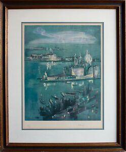 "Vintage Mid Century JACQUES BLENY ""Venice"" S/N Original Lithograph"