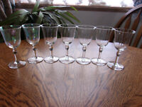 Small Wine Sherry Paneled - Set of 7 Glasses