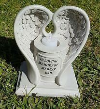 Dad Grave Memorial Ornament Remembrance Flickering Angel Wings Tealight Dad