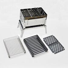 sho's compact bonfire grill B-6kun 4-piece set / Sho-0004-10-25-38 Camping Cookw