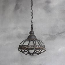 Industrielampe Vintage Shabby Bauhaus Hänge Lampe Loft Retro Decken Leuchte Glas