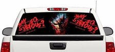 """Why so serious Joker rear window graphics perforated Decal Sticker 66""""x22"""" RAM e"""