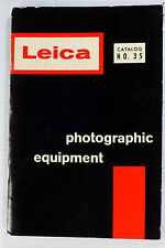 Leica Photographic Equipment Catalog #35, printed March 1, 1960, 100 pages