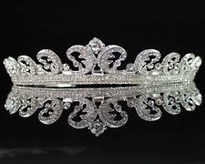 ROYAL WEDDING CLEAR AUSTRIAN RHINESTONE CRYSTAL TIARA CROWN BRIDAL KATE H555
