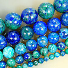 Natural Lapis Lazuli Chrysocolla Round Gemstone Beads 15.5