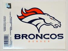 Denver Broncos Small Static-Cling Window Decal Sticker - 3 x 4 - NFL Football