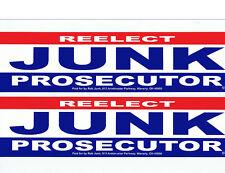 Elect Junk Prosecutor Pike County Ohio Political Advertising Bumper Sticker Lot