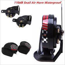 2Pcs Car ATV Motorcycle Compact Loud 12V 510Hz 110dB Snail Air Horns Waterproof