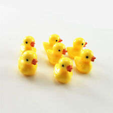 20pcs Yellow Color Resin Cute 3D Duck Model Cabochons Decor Accessories Crafts