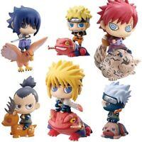 6 Pcs/set Naruto Uzumaki Uchiha Sasuke Hatake Kakashi PVC Figure Model Toy