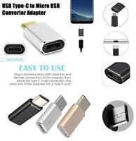 USB type C To Micro USB Converter Adapter Charger Fr Samsung Galaxy S8 / S8 PLUS