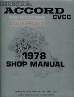 ACCORD 1978 SHOP MANUAL HONDA SERVICE REPAIR BOOK HAYNES CHILTON