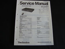 Original Service Manual Technics ST-X301